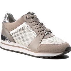 Sneakersy MICHAEL MICHAEL KORS - Billie Trainer 43S7BIFS1D Cement. Czarne sneakersy damskie marki MICHAEL Michael Kors, z gumy, przed kolano, na wysokim obcasie. W wyprzedaży za 619,00 zł.