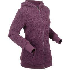 """Bluza z polaru """"baranek"""", długi rękaw bonprix czarny bez. Fioletowe bluzy polarowe bonprix, z długim rękawem, długie. Za 119,99 zł."""