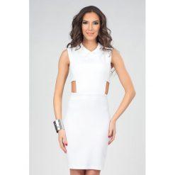 Odzież damska: Sukienka Poese w kolorze białym