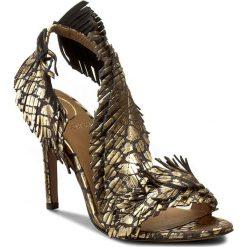 Rzymianki damskie: Sandały BALDOWSKI – D01511-3436-013 Ocelot Złoty
