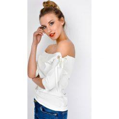 Bluzki damskie: Bluzka ze wstążką na ramionach