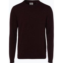 Jack & Jones - Sweter męski – Jjebasic, czerwony. Czarne swetry klasyczne męskie marki Jack & Jones, l, z bawełny, z klasycznym kołnierzykiem, z długim rękawem. Za 69,95 zł.
