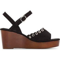 Rzymianki damskie: Sandały na koturnie drewnanym, na szeroką stopę 38-45
