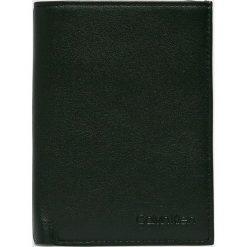 Calvin Klein - Portfel skórzany. Szare portfele męskie Calvin Klein, z materiału. Za 269,90 zł.