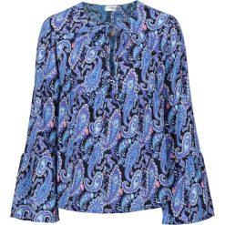 Bluzki damskie: Bluzka bonprix niebieski paisley