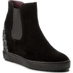 Botki KARINO - 1853/003-P Czarny. Fioletowe buty zimowe damskie marki Karino, ze skóry. W wyprzedaży za 209,00 zł.