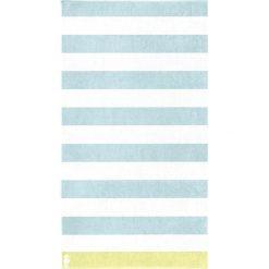 """Kąpielówki męskie: Ręcznik plażowy """"Albatros"""" w kolorze turkusowo-białym"""