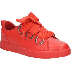 Czerwone buty sportowe creepersy na platformie sznurowane Casu AB-67. Czarne buty sportowe damskie marki Casu. Za 69,99 zł.
