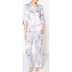 Piżama koszulowa z satyny. Szare piżamy męskie La Redoute Collections, m, z elastanu. Za 141,08 zł.
