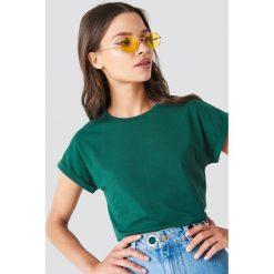 Rut&Circle Klasyczny T-shirt Ellen - Green. Zielone t-shirty damskie Rut&Circle, z klasycznym kołnierzykiem. Za 80,95 zł.