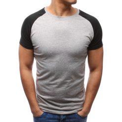 T-shirty męskie: T-shirt męski gładki szary (rx2673)
