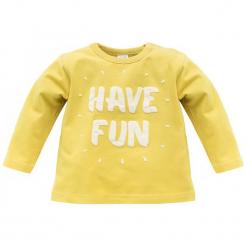 Pinokio Koszulka Chłopięca Funny Dog 86 Żółty. Żółte t-shirty chłopięce Pinokio, z bawełny. Za 33,00 zł.