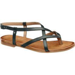 Rzymianki damskie: sandały damskie 5th Avenue czarne