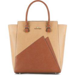 Torebka damska 83-4E-404-5. Brązowe torebki klasyczne damskie Wittchen, w paski. Za 399,00 zł.