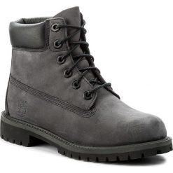 Trapery TIMBERLAND - 6 In Premium Wp Boot A1O7Q Forged Iron. Szare buty zimowe chłopięce marki Timberland, z gumy. W wyprzedaży za 389,00 zł.