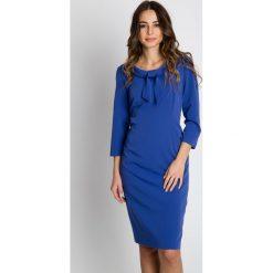 Sukienki: Niebieska elegancka sukienka  BIALCON