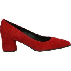 Czółenka - 1500A CAM SCA. Czerwone buty ślubne damskie Venezia, ze skóry. Za 349,00 zł.