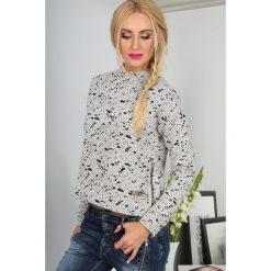 Jasnoszara Bluza BB20579. Czarne bluzy damskie marki Fasardi, m, z dresówki. Za 54,00 zł.