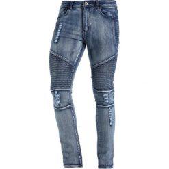 Liquor N Poker DISTRESSED BIKER Jeans Skinny Fit washed indigo. Niebieskie rurki męskie Liquor N Poker. W wyprzedaży za 135,20 zł.