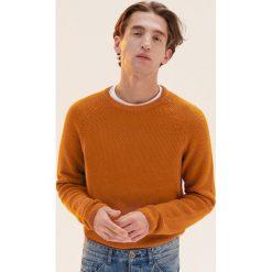 Sweter z raglanowym rękawem - Żółty. Żółte swetry klasyczne męskie marki TOMMY HILFIGER, m. Za 99,99 zł.