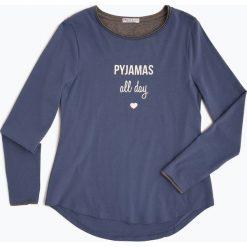 Marie Lund - Damska koszulka od piżamy, niebieski. Niebieskie t-shirty damskie Marie Lund, l, z napisami, z dżerseju. Za 49,95 zł.