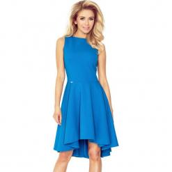66-14 gruba lacosta - ekskluzywna sukienka z dłuższym tyłem - kobaltow. Niebieskie sukienki na komunię marki numoco, l. Za 137,00 zł.