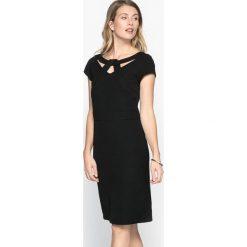 Sukienki balowe: Prosta sukienka, twill ze streczem, krótki rękaw