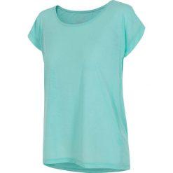 Koszulka treningowa damska TSDF007 - mięta. Niebieskie bluzki z odkrytymi ramionami marki KIPSTA, xl, z elastanu. Za 69,99 zł.