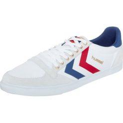 Hummel SLIMMER STADIL Tenisówki i Trampki red/white. Białe tenisówki damskie marki Hummel, z materiału. Za 249,00 zł.