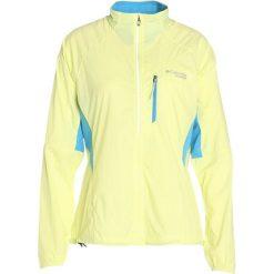 Columbia TITAN LITE Kurtka do biegania neon light/splash. Żółte kurtki damskie do biegania marki Columbia, xs, z materiału. W wyprzedaży za 359,10 zł.