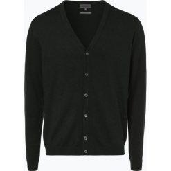 Finshley & Harding - Sweter męski – Pima-Cotton/Kaszmir, zielony. Czarne swetry rozpinane męskie marki Finshley & Harding, w kratkę. Za 179,95 zł.