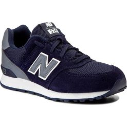 Sneakersy NEW BALANCE - KL574CWP Granatowy. Niebieskie buty sportowe dziewczęce New Balance, z materiału, na sznurówki. W wyprzedaży za 199,00 zł.