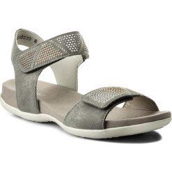 Sandały RIEKER - K2269-42 Grau Kombi. Czarne sandały dziewczęce marki Rieker, z materiału. Za 229,00 zł.