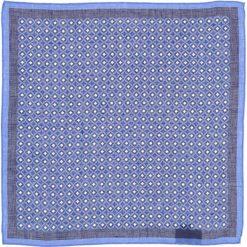 Poszetki męskie: Lniana poszetka w kolorze niebieskim – 33 x 33 cm