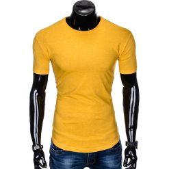 T-SHIRT MĘSKI BEZ NADRUKU S998 - ŻÓŁTY. Żółte t-shirty męskie z nadrukiem marki Ombre Clothing, m. Za 19,99 zł.
