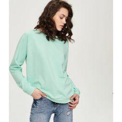 Bluzy damskie: Gładka bluza – Zielony