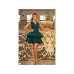 Sukienki: SUKIENKA CHERRY KORONKOWA SZMARAGDOWY