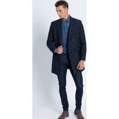 Trussardi Jeans - Koszula. Niebieskie koszule męskie jeansowe marki Trussardi Jeans, z klasycznym kołnierzykiem, z długim rękawem. W wyprzedaży za 299,90 zł.