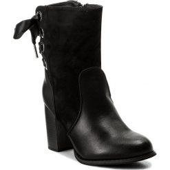 Botki JENNY FAIRY - WS17051-9 Czarny. Czarne buty zimowe damskie Jenny Fairy, z materiału, na obcasie. Za 139,99 zł.