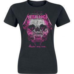 Metallica Wherever I May Roam Koszulka damska czarny. Czarne bluzki asymetryczne Metallica, s, z nadrukiem, z okrągłym kołnierzem. Za 74,90 zł.