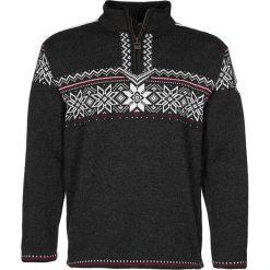 Swetry klasyczne męskie: Dale of Norway HOLMENKOLLEN Sweter dark chracoal/off white/red roses
