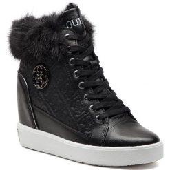 Sneakersy GUESS - FLFRR3 LEP12 BLACK. Czarne sneakersy damskie marki Guess, z materiału. Za 719,00 zł.