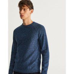 Sweter z bawełny organicznej - Granatowy. Niebieskie swetry klasyczne męskie marki QUECHUA, m, z elastanu. Za 119,99 zł.