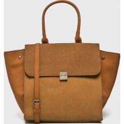Roxy - Torebka. Brązowe torebki klasyczne damskie Roxy, w paski, z poliesteru, duże. Za 189,90 zł.