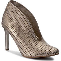 Szpilki CARINII - B3255/M F76-000-000-A92. Żółte buty zimowe damskie Carinii, z materiału. W wyprzedaży za 229,00 zł.