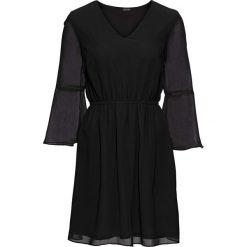 Sukienki hiszpanki: Sukienka szyfonowa bonprix czarny