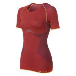 Bluzki sportowe damskie: Odlo Koszulka damska Shirt s/s crew neck Evolution Light Greentec czerwona r. L