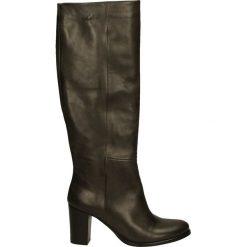 Kozaki - 7161G VI GRIG. Czarne buty zimowe damskie Venezia, ze skóry. Za 249,00 zł.