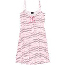 Koszule nocne i halki: Koszula nocna na cienkich ramiączkach bonprix jasnoróżowo-różowy w kropki