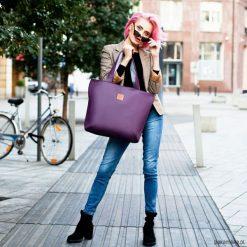 Torba Mili City Bag MCB2 - fioletowa. Fioletowe torebki klasyczne damskie Pakamera, duże. Za 199,00 zł.
